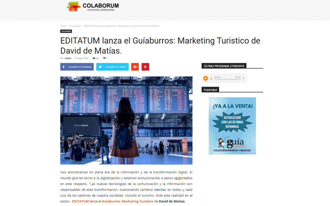 GuíaBurros: Marketing Turístico, de David de Matías, en Colaborum