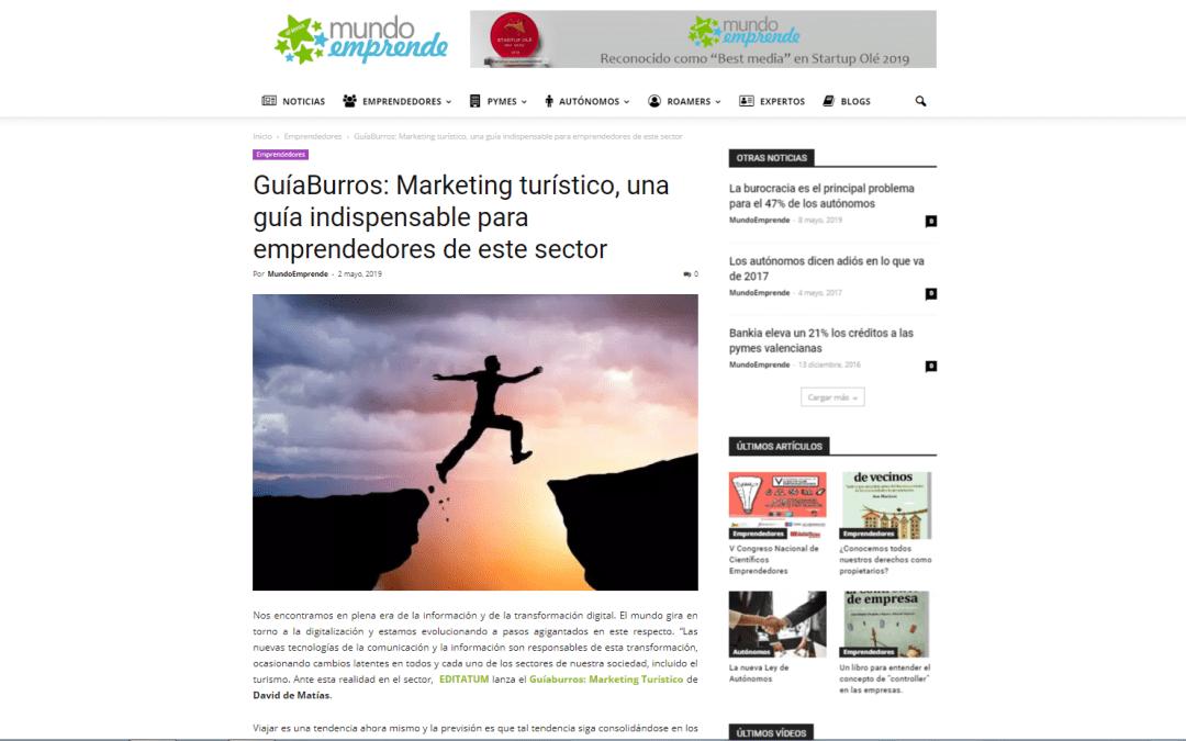 GuíaBurros: Marketing Turístico en el portal para emprendedores, pymes y autónomos Mundo Emprende